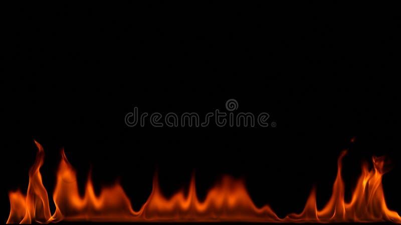 Brandeld på svart bakgrund fotografering för bildbyråer
