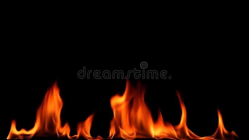 Brandeld på svart bakgrund royaltyfri fotografi