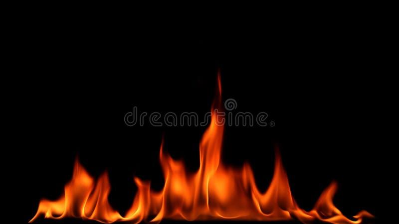 Brandeld på svart bakgrund arkivfoton