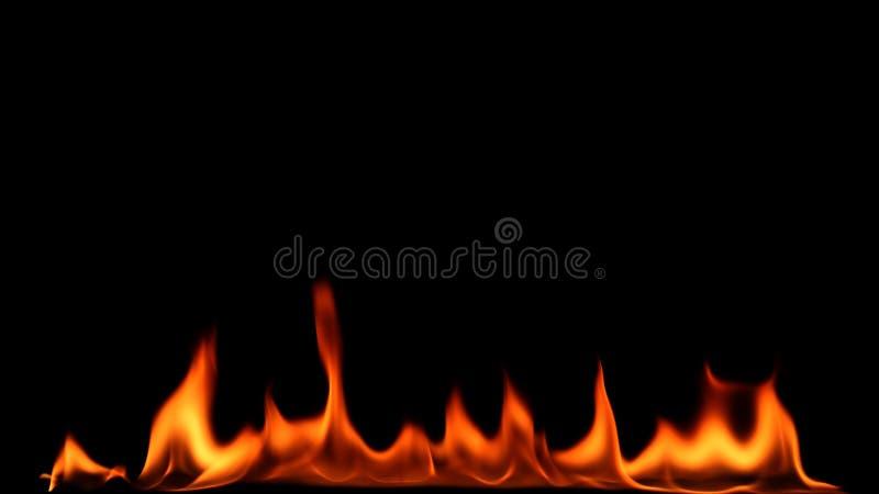 Brandeld på svart bakgrund royaltyfri foto
