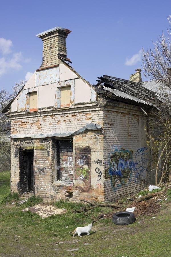 Branden-versla huis royalty-vrije stock afbeelding