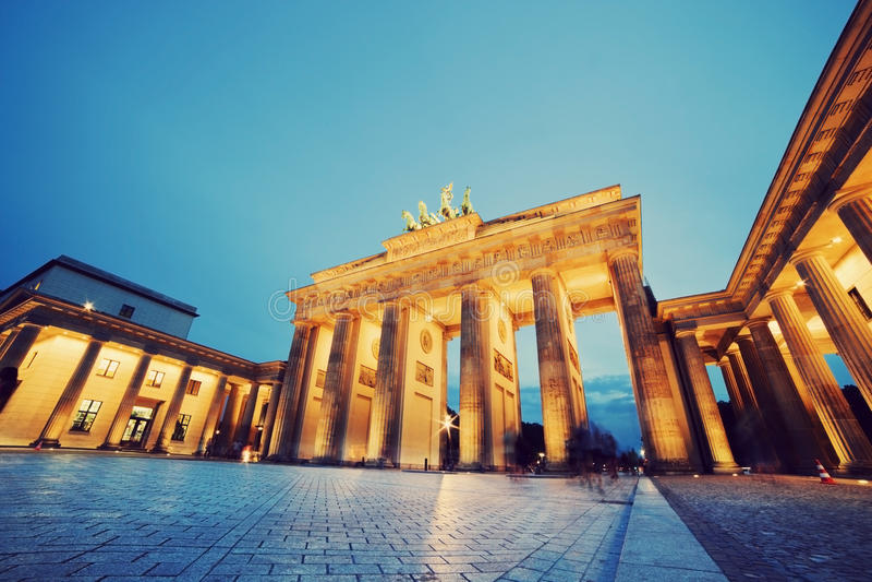 Brandenburg brama, Berlin, Niemcy obrazy royalty free