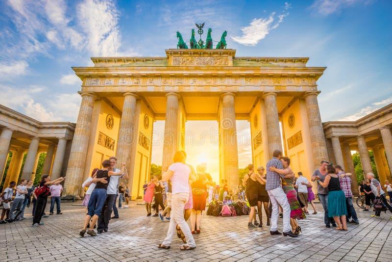 Brandenburg brama przy wschodem słońca, Berlin, Niemcy obrazy stock