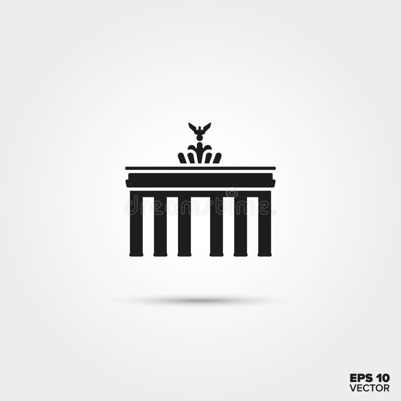 Brandenburg bramy ikona royalty ilustracja