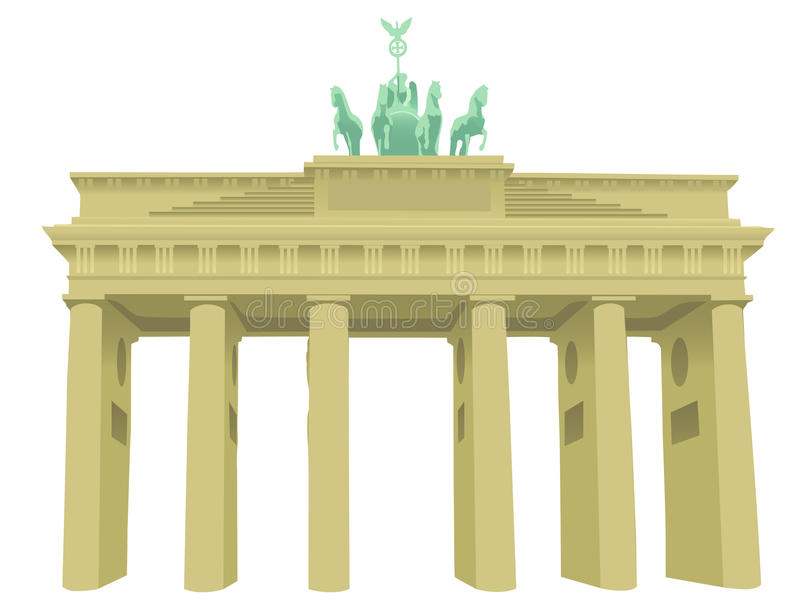 Brandenburg gate. Illustration of Brandenburg gate in Berlin vector illustration