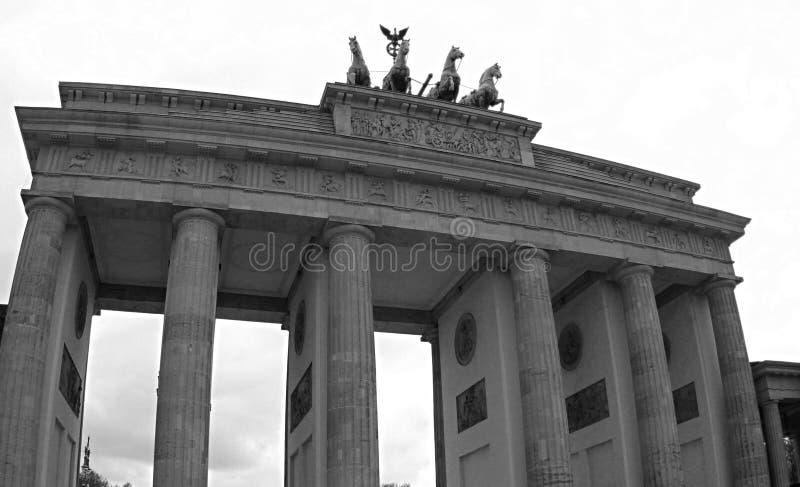 Brandenburg Gate in Berlin. Black and white photo. royalty free stock photos