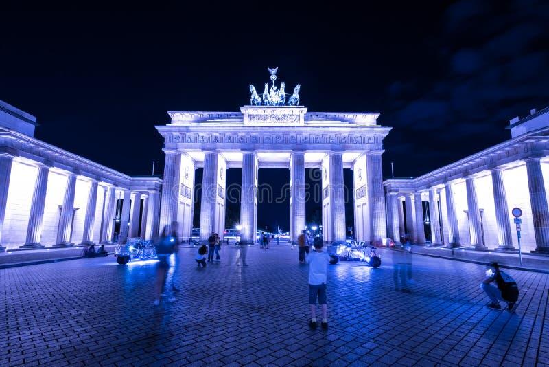 Brandenburger Tor at night - Brandenburg Gate, Berlin, Germany stock images