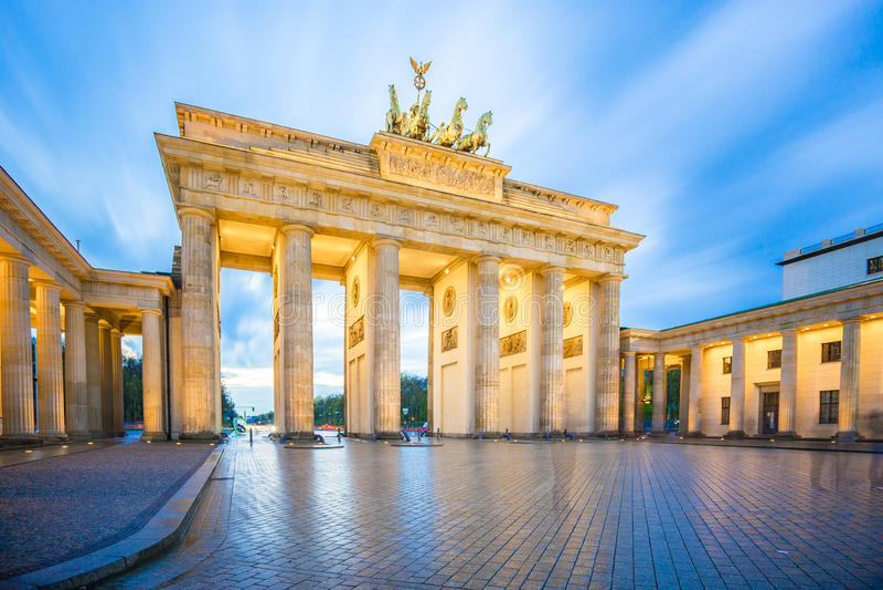 Brandenburg Gate in Berlin city, Germany royalty free stock images