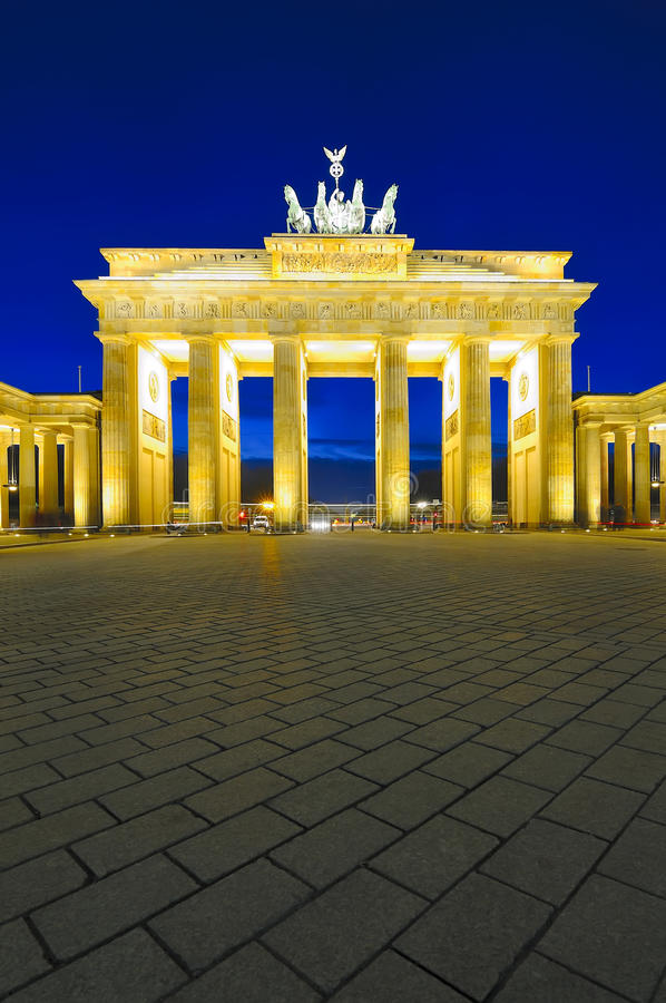 Brandenburg gate, berlin, germany royalty free stock image