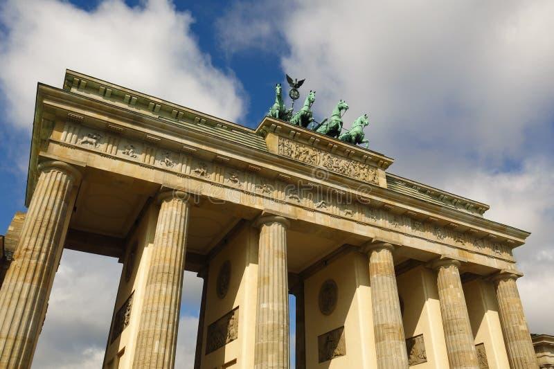 Brandenburg Gate Berlin Germany detail sunny day royalty free stock image
