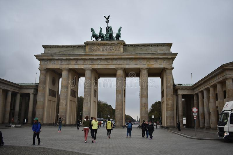 Brandenburg gate in Berlin royalty free stock photography