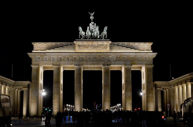 The Brandenburg Gate Brandenburger Tor, Berlin, Gemany royalty free stock photography