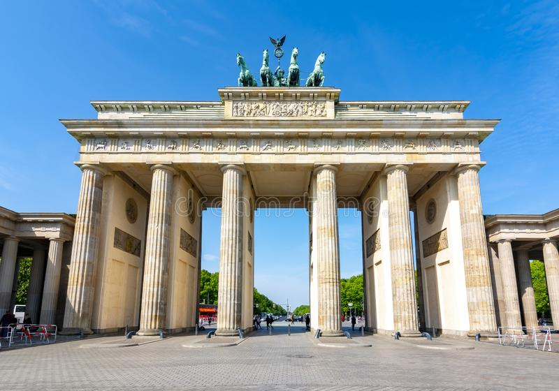 Brandenburg Gate Brandenburger Tor, Berlin, Germany stock photo