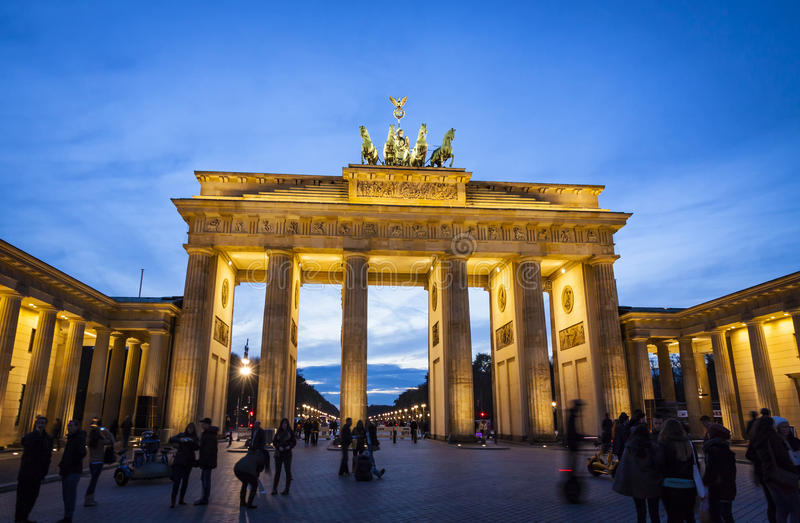 Brandenburg Gate (Brandenburger Tor) in Berlin, Germany stock photography