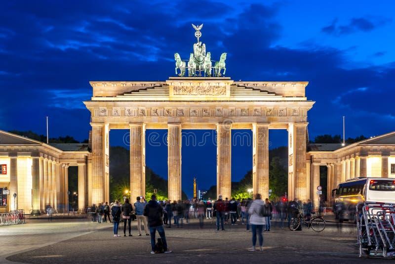 Brandenburg Gate Brandenburger Tor at night, Berlin, Germany royalty free stock images