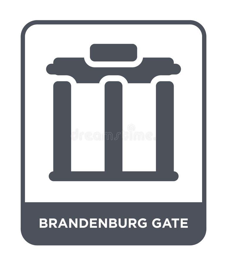 brandenburg gate icon in trendy design style. brandenburg gate icon isolated on white background. brandenburg gate vector icon royalty free illustration