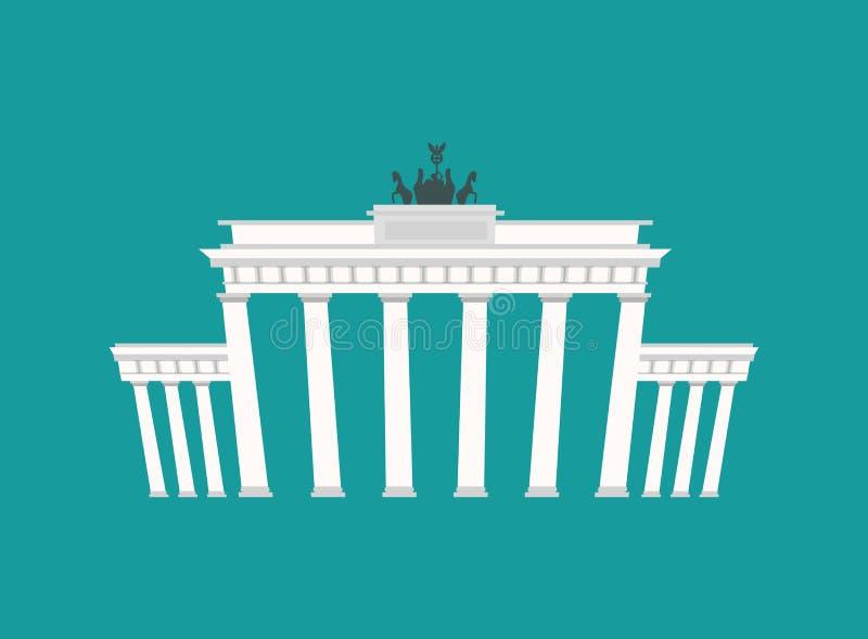 Brandenburg Gate, Landmark Germany. Historic architecture building in Berlin vector illustration