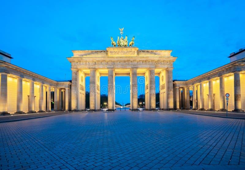 The Brandenburg Gate monument in Berlin city, Germany stock photos