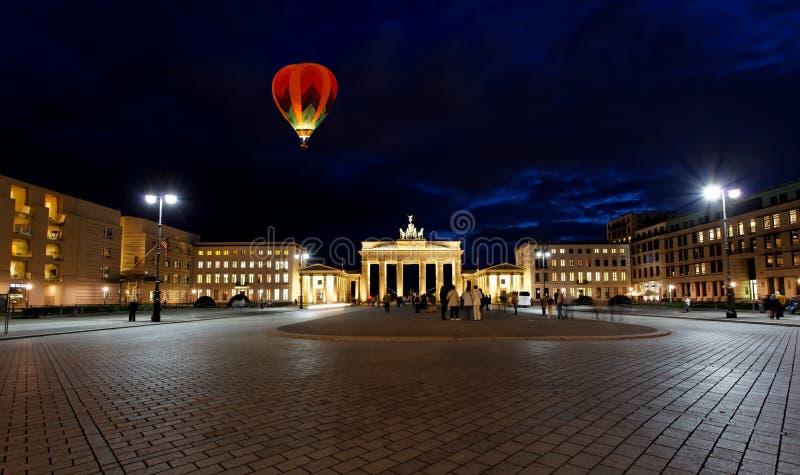 BRANDENBURG GATE at night in Berlin royalty free stock image