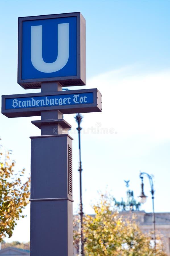 Brandenburg gate street royalty free stock photo