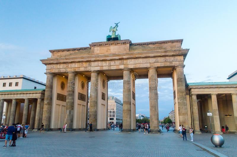 The Brandenburg Gate, viewed from West side. stock photography