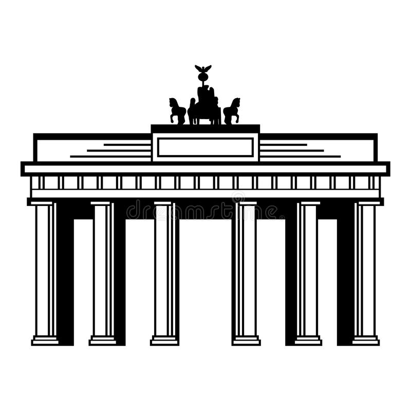 Brandenburg Gate. For web and print use royalty free illustration