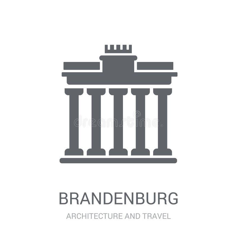 Brandenburg-Ikone Modisches Brandenburg-Logokonzept auf weißem backg lizenzfreie abbildung