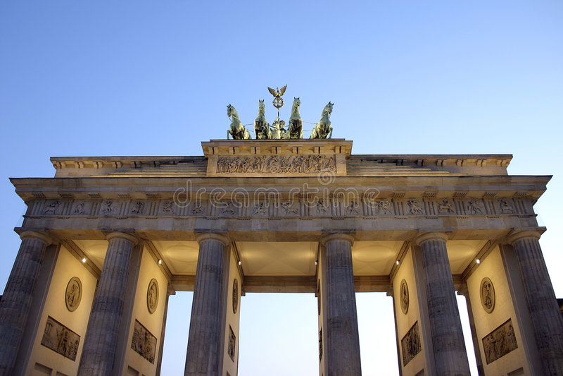 Download Brandenburg Tor stock photo. Image of architecture, brandenburger - 2181564