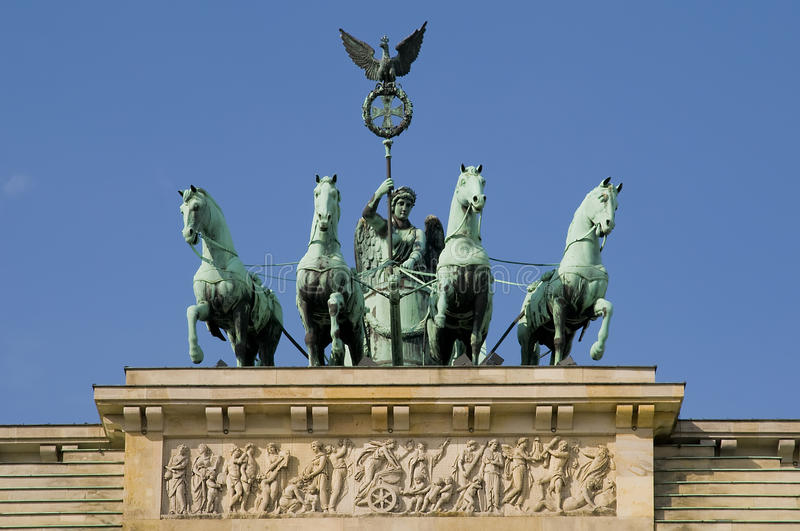 Brandenburger gate in berlin royalty free stock images