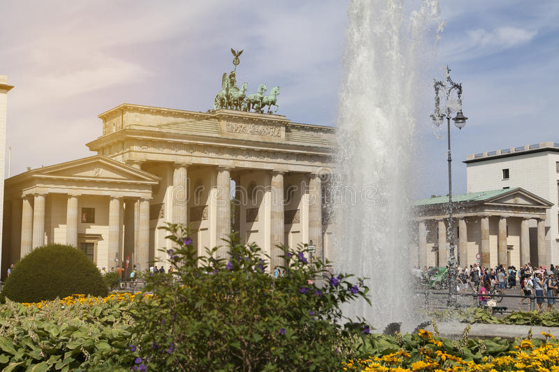 Brandenburger gate in Berlin stock images