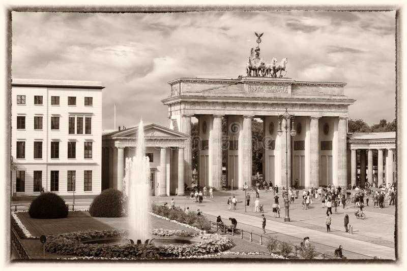Brandenburg Gate, Berlin, Retro style royalty free stock images