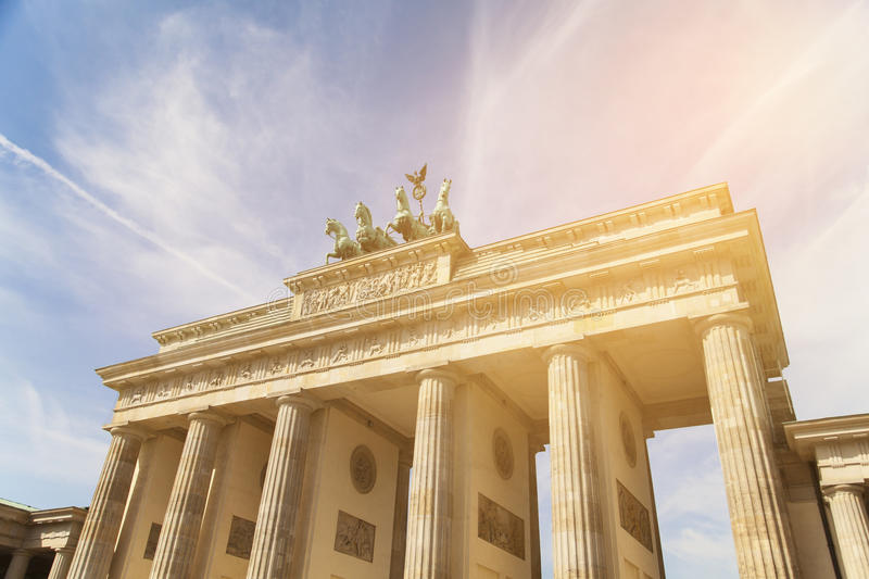 Brandenburger gate in Berlin stock photos