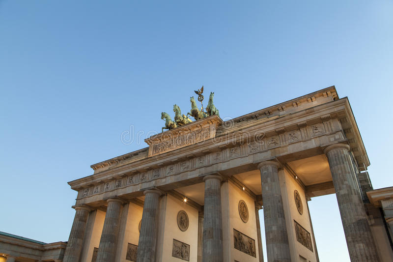 Brandenburger gate in Berlin royalty free stock photography
