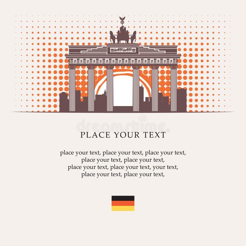 Brandenburger Tor lizenzfreie abbildung