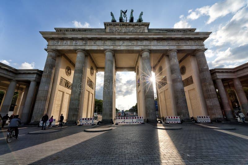Brandenburger Tor in Berlin stockbild