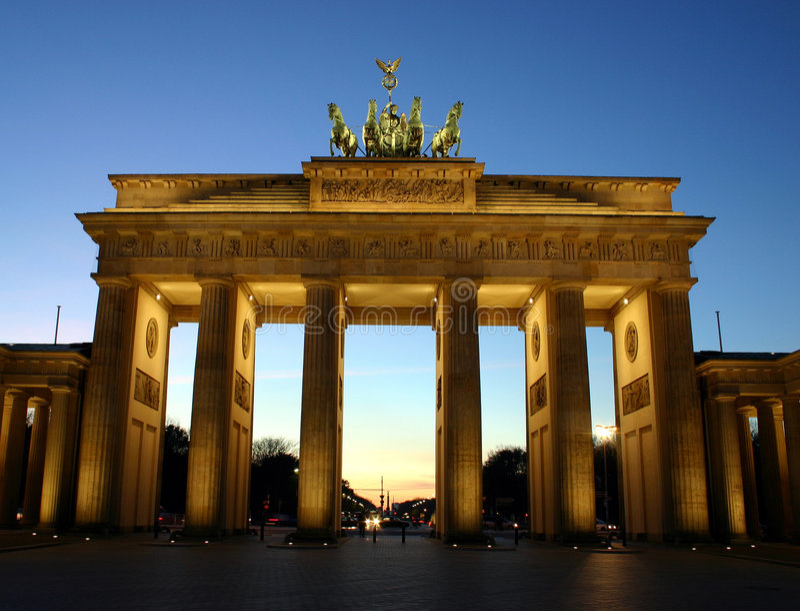 Brandenburger Tor Berlin lizenzfreies stockfoto