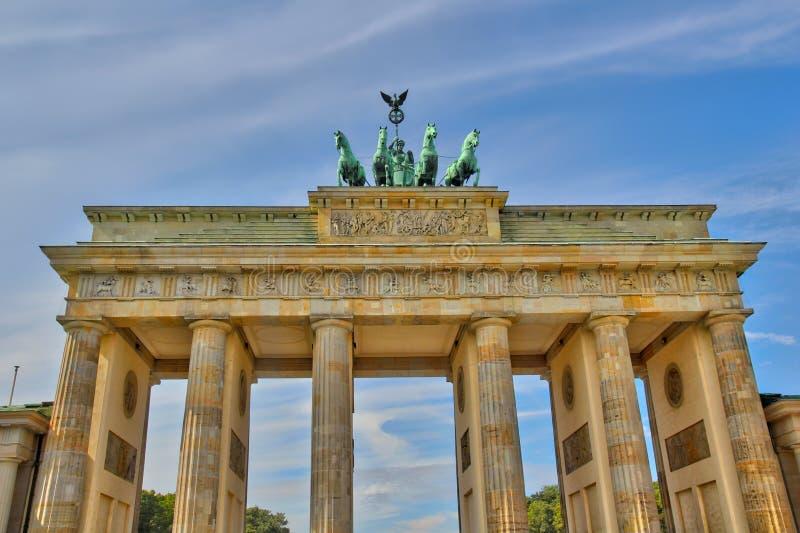 Brandenburger Tor Berlin, de kant van het oosten stock foto's