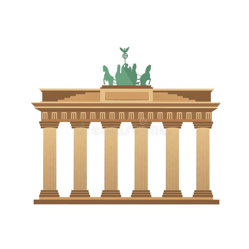 Brandenburger Tor Berlin Germany-Tourismus lizenzfreie abbildung
