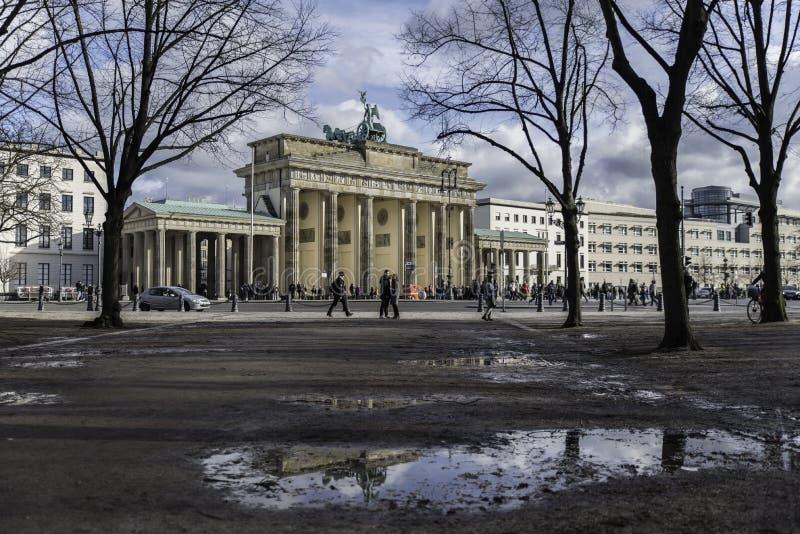 Brandenburger Tor Reflection arkivfoto
