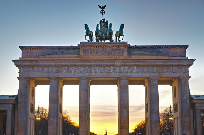 Download Brandenburger Tor At Sunset Stock Photo - Image: 25277448
