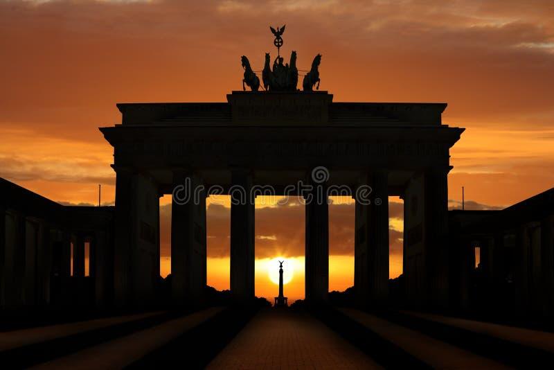 Brandenburger Tor Sunset imagens de stock royalty free