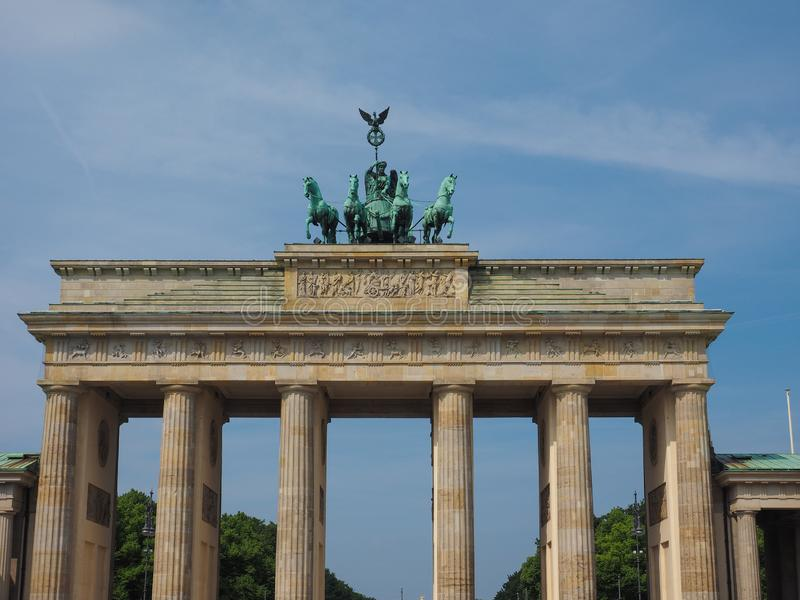 Brandenburger Tor w Berlin (Brandenburg brama) fotografia royalty free