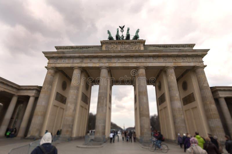 Brandenburgerpiek Berlijn Duitsland stock afbeelding