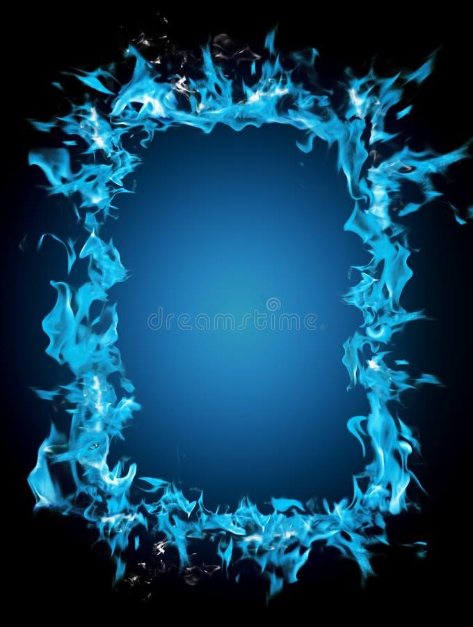 Brandend frame royalty-vrije stock afbeelding