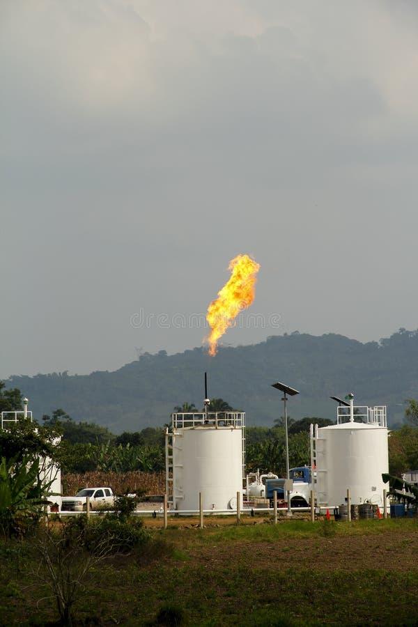 Brandend gas royalty-vrije stock fotografie