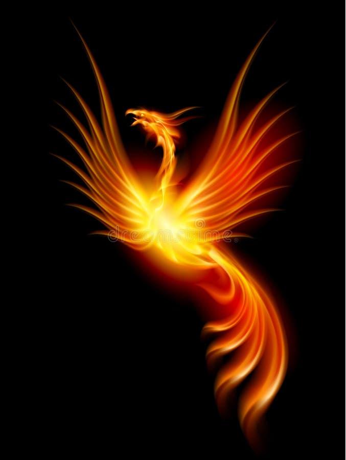 Brandend Phoenix royalty-vrije illustratie