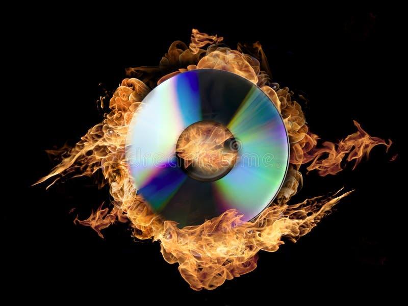 Brandende CD royalty-vrije stock fotografie