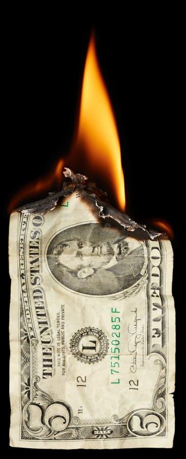 Download Brandende dollar stock afbeelding. Afbeelding bestaande uit donker - 54079021