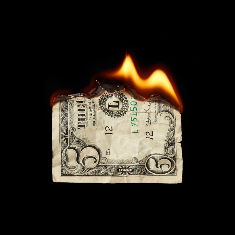 Download Brandende dollar stock foto. Afbeelding bestaande uit vlam - 54079060