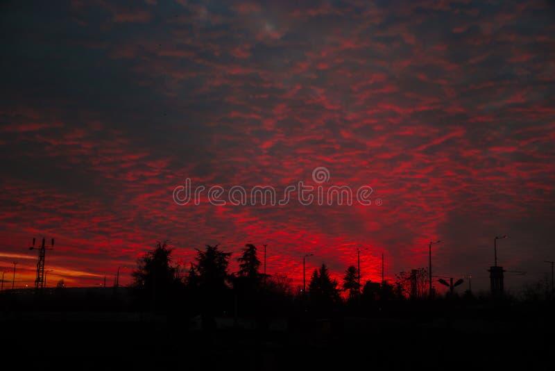 Brandende hemel stock afbeelding